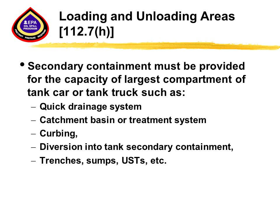 Loading and Unloading Areas [112.7(h)]